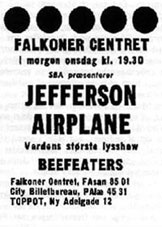 Avisannonce: Jefferson Airplane m.fl. ...